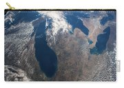 Satellite View Of Great Lakes Carry-all Pouch