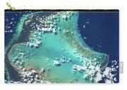 Satellite View Of Turks And Caicos Carry-all Pouch