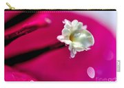 Satin Droplet On Bougainvillea Stamen Carry-all Pouch