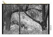 Savannah Afternoon - Black And White Carry-all Pouch