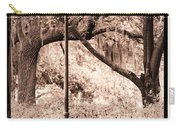 Savannah Bench Sepia Carry-all Pouch by Carol Groenen