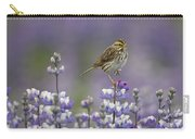 Savannah Sparrow And Nootka Lupine Carry-all Pouch