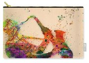 Saxophone  Carry-all Pouch by Mark Ashkenazi
