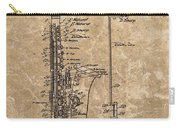 Saxophone Patent Design Illustration Carry-all Pouch