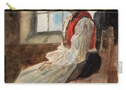 Scandinavian Peasant Woman In An Interior Carry-all Pouch by Alexandre Lunois