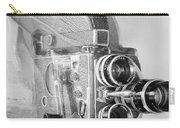 Scarf Camera In Black And White Carry-all Pouch