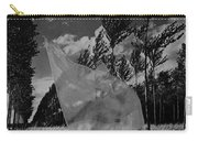 Scarf In The Winds In Black And White Carry-all Pouch