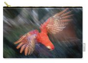Scarlet Macaw Flying Amazon Basin Peru Carry-all Pouch