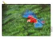 Scarlet Macaw Juvenile In Flight Carry-all Pouch