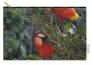 Scarlet Macaws In Rainforest Canopy Carry-all Pouch