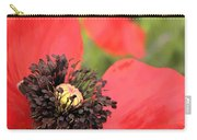 Scarlet Poppy Macro Carry-all Pouch