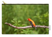 Scarlet Tanager On Snag Carry-all Pouch
