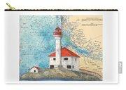 Scarlett Pt Lighthouse Bc Canada Chart Art Carry-all Pouch