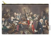 Scene In A Gaming House, Plate Vi Carry-all Pouch by William Hogarth
