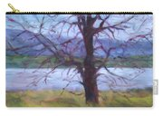 Scenic Landscape Painting Through Tree - Spring Has Sprung - Color Fields - Original Fine Art Carry-all Pouch