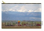 Scenic View Looking Over Anderson Farms Up To Rockies Carry-all Pouch