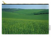 Scenic View Of A Field, South Downs Carry-all Pouch