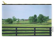 Scenic View Of Horse Farm, Woodford Carry-all Pouch