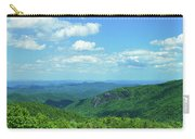 Scenic View Of Mountain Range, Blue Carry-all Pouch