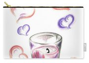 Scented Candle With Love Carry-all Pouch