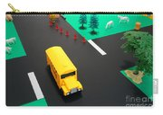 School Bus School Carry-all Pouch