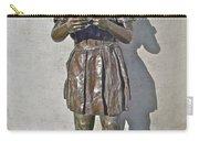 School Girl Sculpture In Saint John's-nl Carry-all Pouch