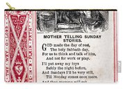 School Trade Card, C1860 Carry-all Pouch