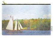 Schooner Castine Harbor Maine Carry-all Pouch by Carol Leigh