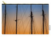 Schooner Masts Martha's Vineyard Carry-all Pouch by Carol Leigh
