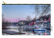 Schuylkill River And Boathouse Row Philadelphia Carry-all Pouch by Bill Cannon