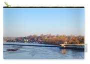 Schuylkill River At Boathouse Row And  The Fairmount Waterworks Carry-all Pouch by Bill Cannon