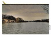 Schuylkill River On A Cloudy Day Carry-all Pouch by Bill Cannon