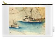 Scooter Fishing Boat Nautical Chart Map Art Carry-all Pouch