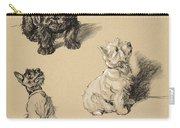 Scotch Terrier And White Westie Carry-all Pouch
