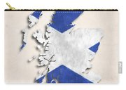 Scotland Map Art With Flag Design Carry-all Pouch