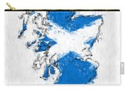 Scotland Painted Flag Map Carry-all Pouch