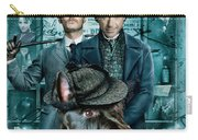 Scottish Terrier Art Canvas Print - Sherlock Holmes Movie Poster Carry-all Pouch