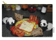 Scrambled Eggs Salami And Cheese For Breakfast. Travelling Baby Pandas Series. Carry-all Pouch
