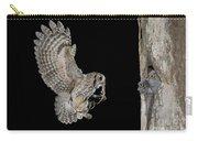 Screech Owl Feeding Owlets Carry-all Pouch