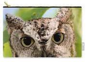 Screech Owl Portrait Carry-all Pouch