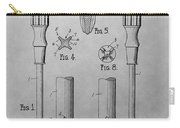 Screwdriver Patent Drawing Carry-all Pouch