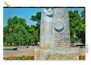 Sculpture And Flowers In Antalya Park Along Mediterranean Coast-turkey  Carry-all Pouch