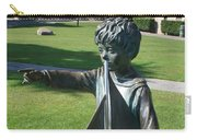 Sculpture - Boy With Sailboat Carry-all Pouch