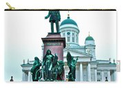 Sculpture Of Alexander II In Cathedral Of Helsinki-finland Carry-all Pouch