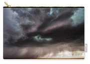 Sculpture - Turquoise Colored Storm Over Kansas Plains Carry-all Pouch