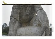 Scuplture Of Gold Rush Miner Claude Chana Carry-all Pouch