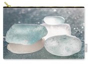 Sea Glass Aqua Shimmer Carry-all Pouch by Barbara McMahon