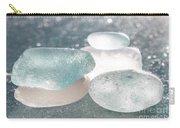 Sea Glass Aqua Sparkle Carry-all Pouch by Barbara McMahon