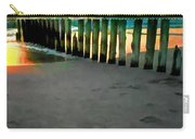 Sea Gulls On Pilings At Sunset Carry-all Pouch