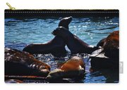 Sea Lions In San Francisco Bay Carry-all Pouch by Aidan Moran